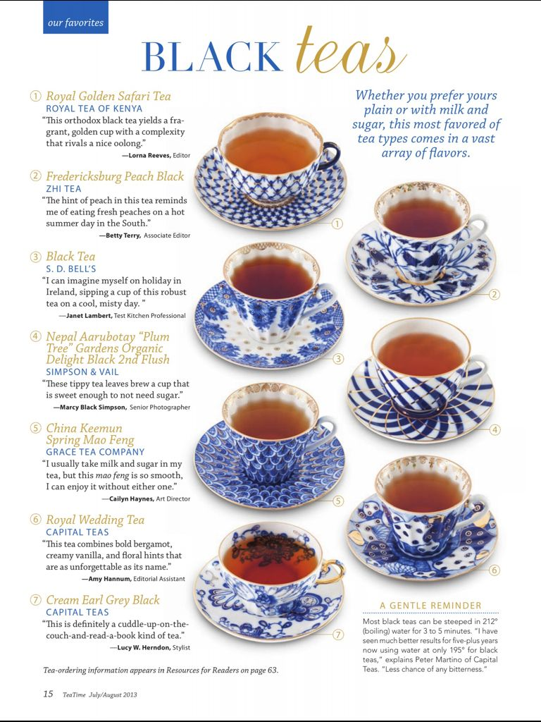 Types Of Tea I Would Do Anything To Drink A Cup Of Black Tea Right