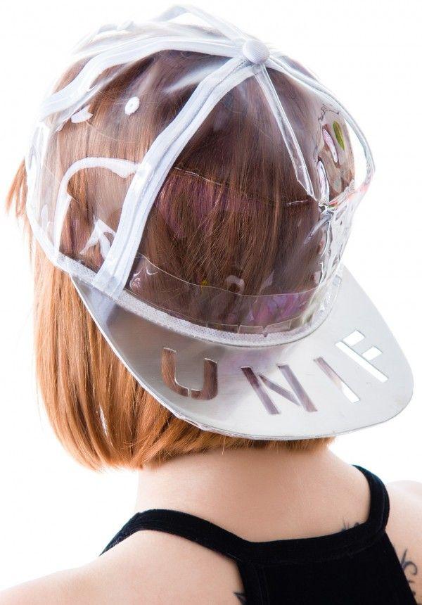 UNIF Vapor Hat in clear vinyl 3128c11835b0