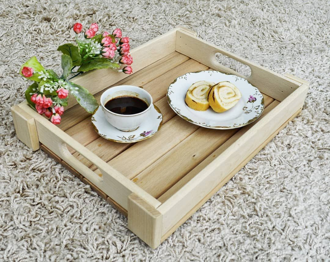 Ottoman Tray For A Nice Breakfast In Bed Handmade From Pine 12211 5 Inches 30554 Cm Link In The Bio Woodentra Ottoman Tray Wooden Tray Serving Tray Wood [ 858 x 1080 Pixel ]