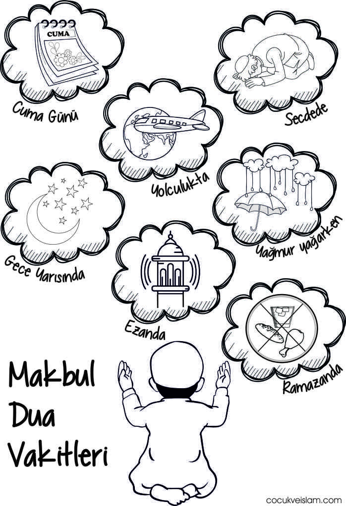 New Muslim Kids Coloring Page Islam Is Happiness Islamic