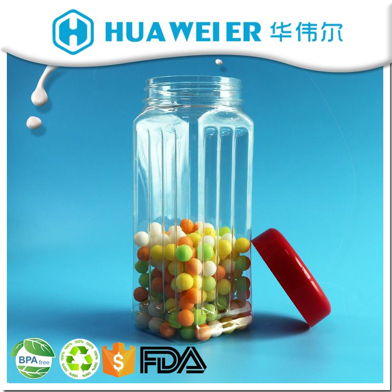550ml Guangzhou wholesale clear pet square plastic cute