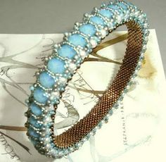 Honeycomb bangle--I've made this several times in different color combinations-so easy!