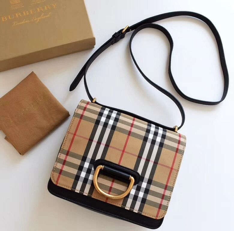277f5c01f4 Burberry Small Leather and Vintage Check D-ring Bag 2018 | Burberry ...
