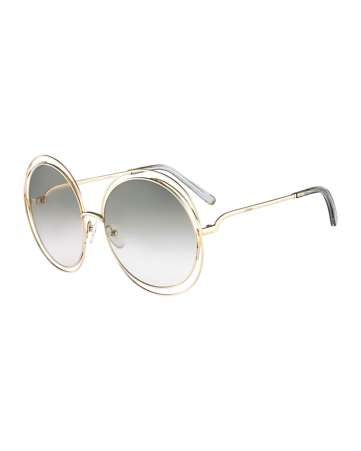 14311852595 Carlina Round Wire-Frame Sunglasses