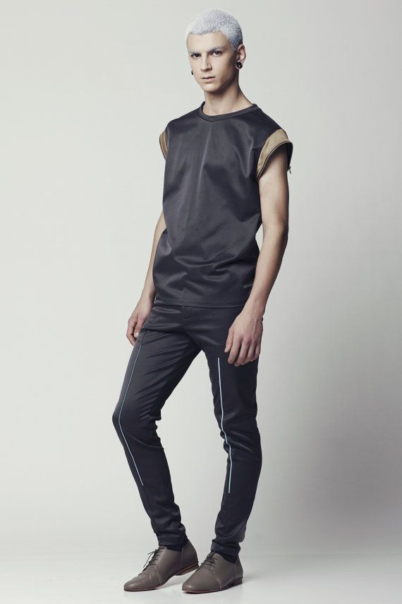 ON SALE 50 OFF Mens muscle tank top Mens Grey by EliranNargassi, ₪300.00