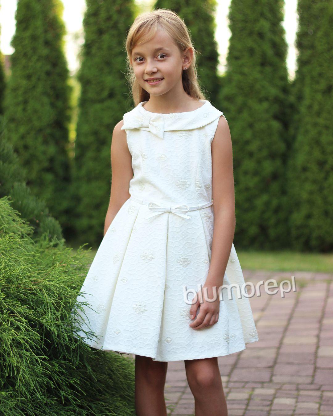 Szykowna Sukienka Z Motywem Kwiatow 134 158 Awa Morela Flower Girl Dresses Dresses Fashion