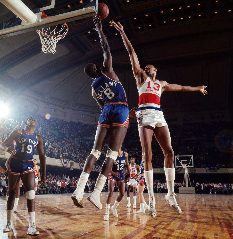 Wilt Chamberlain and Dick Barnett NY Basketball 1967 Sports