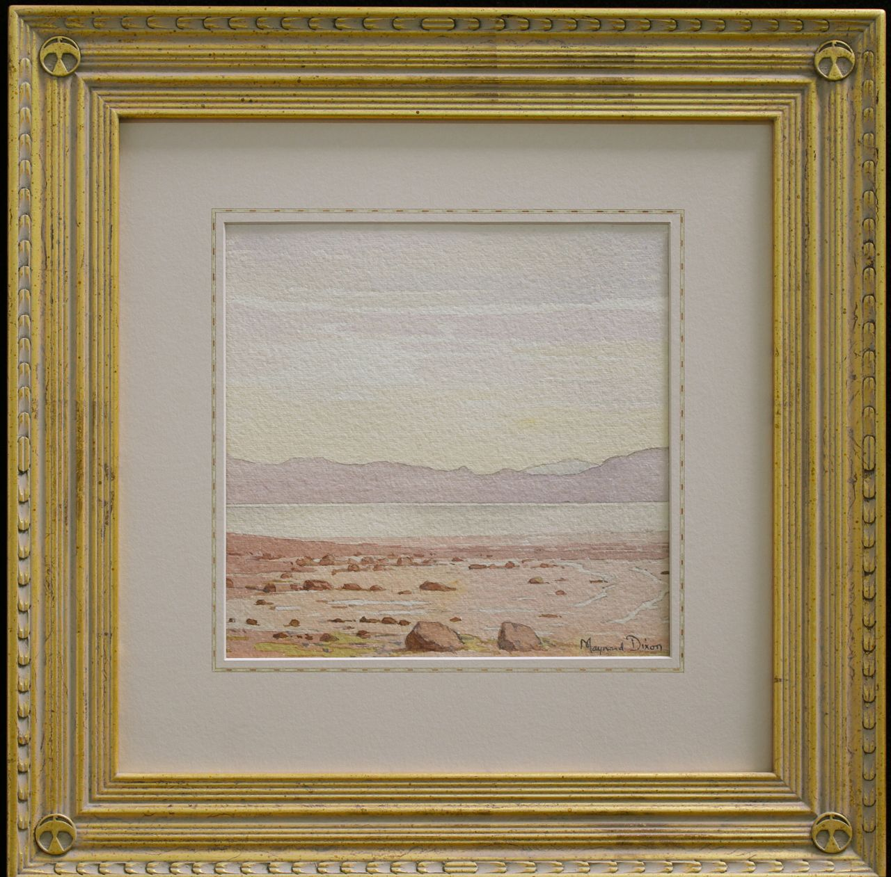 Maynard Dixon Watercolor With Dixon Custom Frame And French