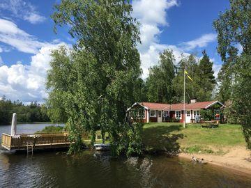 Ferienhaus mit Panoramablick inkl. Boot und Sauna direkt