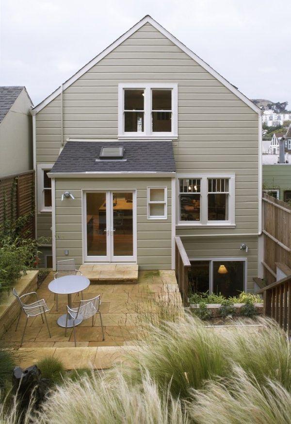 pflastersteine innenhof haus modern design dezent look häuser - Haus Modern