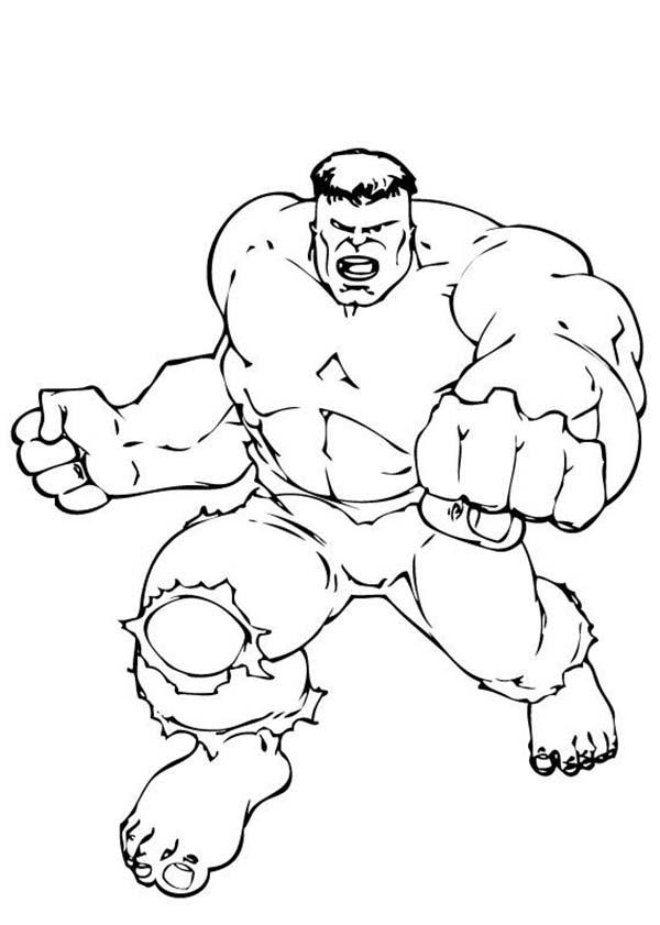 Hulk Super Power Coloring Page Netart Di 2020