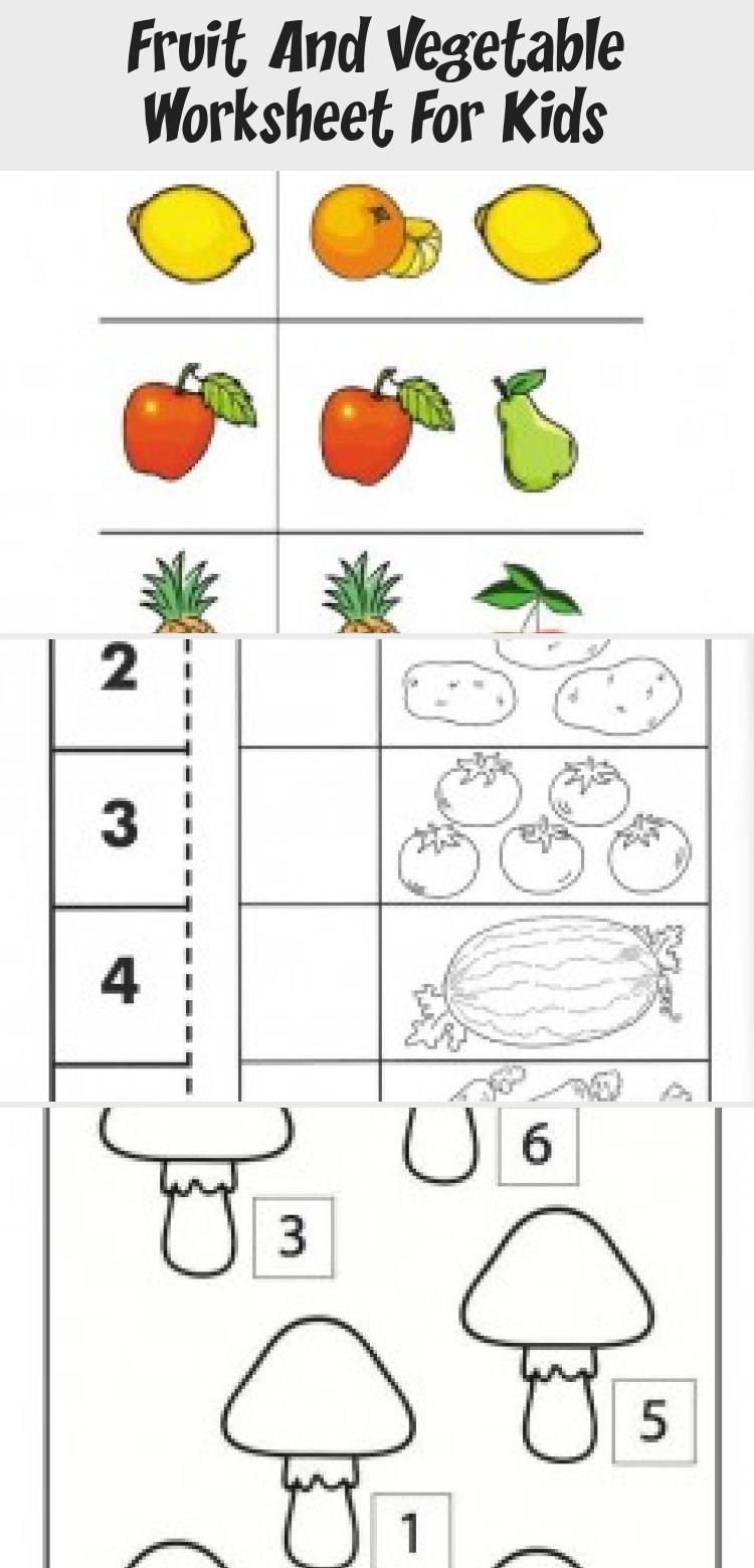 Fruit And Vegetable Worksheet For Kids Crafts And Worksheets For Preschool Toddler And Kindergarten Toyswo Worksheets For Kids Crafts For Kids Diy Kids Toys [ 1560 x 750 Pixel ]