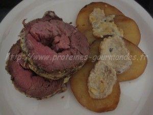 roti de veau a la moutarde  avec pdt à côté pour les autres...
