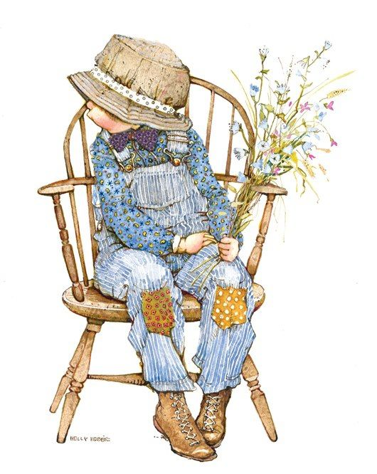 Robbie Nino Vestido De Azul Sentado En Silla Holly Hobbie Sarah Kay Holly Hobbie Doll