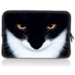 """Smiling cat 17.1"""" 17.3"""" inch Laptop Bag Sleeve Case for Apple MacBook pro 17/Dell Inspiron 17R Vostro XPS Alienware M17x/Samsung 700 Sony Vaio E 17/ HP dv7 ENVY"""