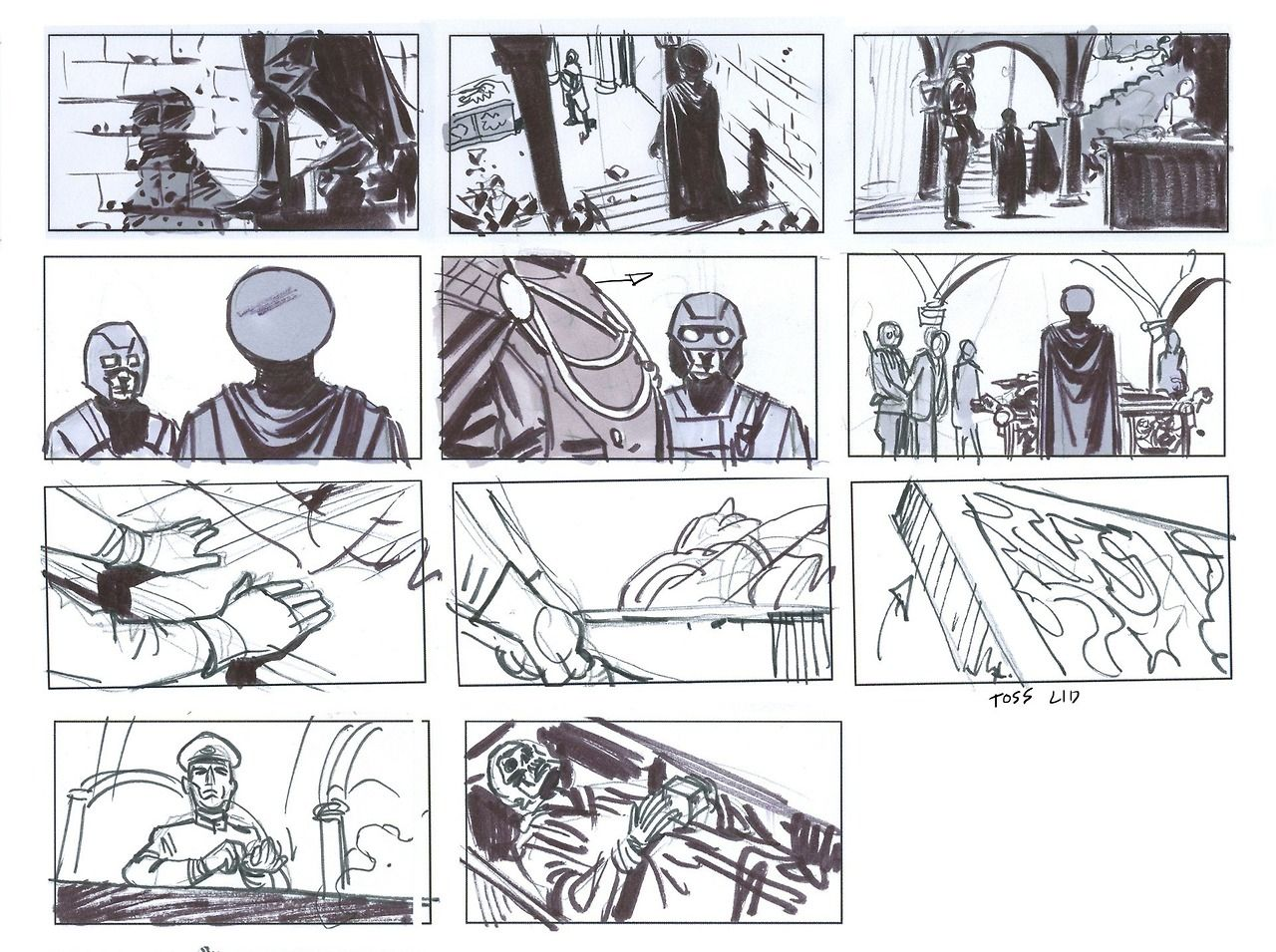 The First Avenger Storyboards By Rodolfo Damaggio  Composition