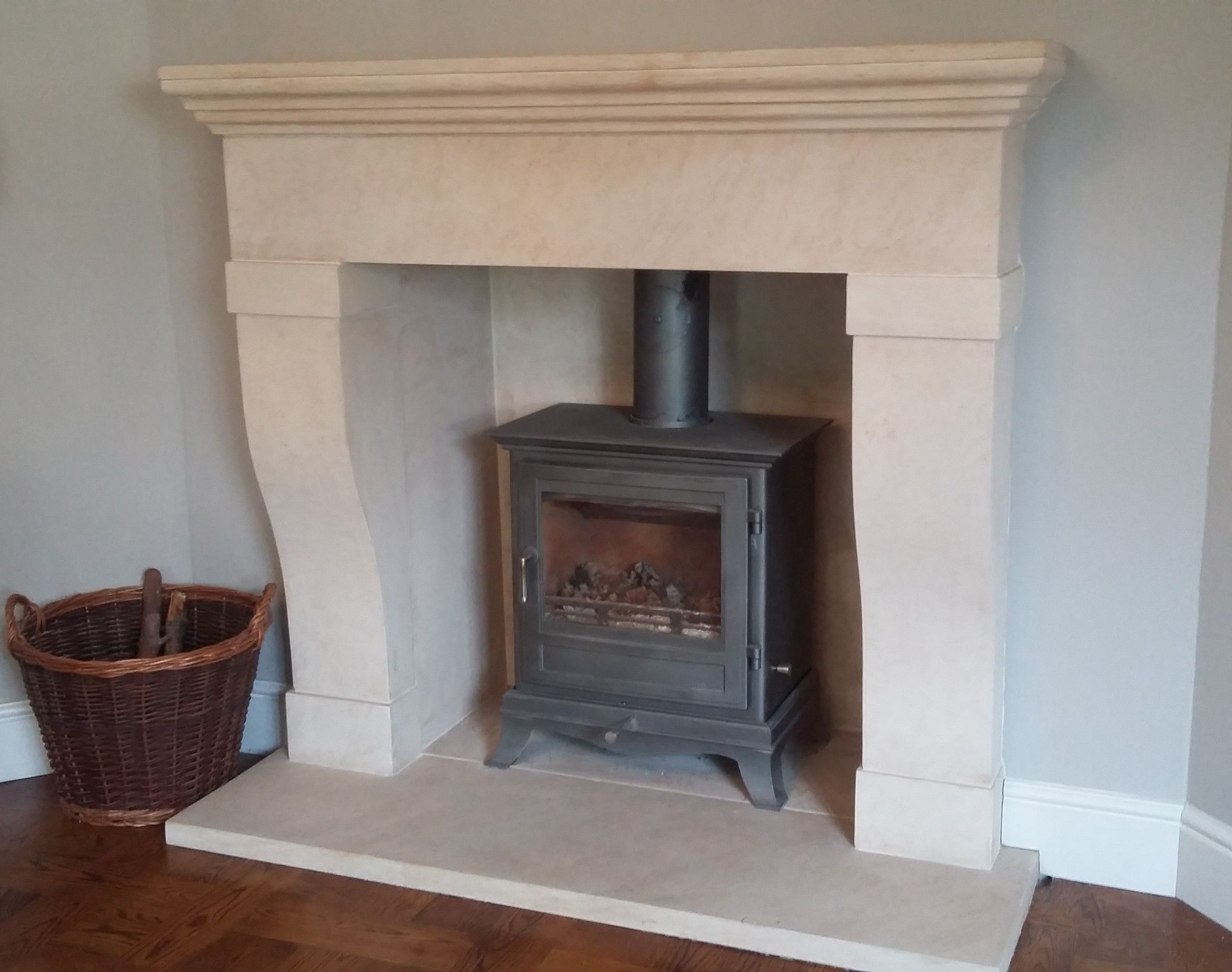 Solid Ancaster Limestone Fireplace Hand Carved By Stone Mason