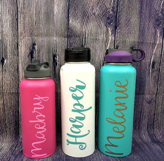 Personalised i love glitter Name Vinyl Decal Sticker Great for Water Bottles