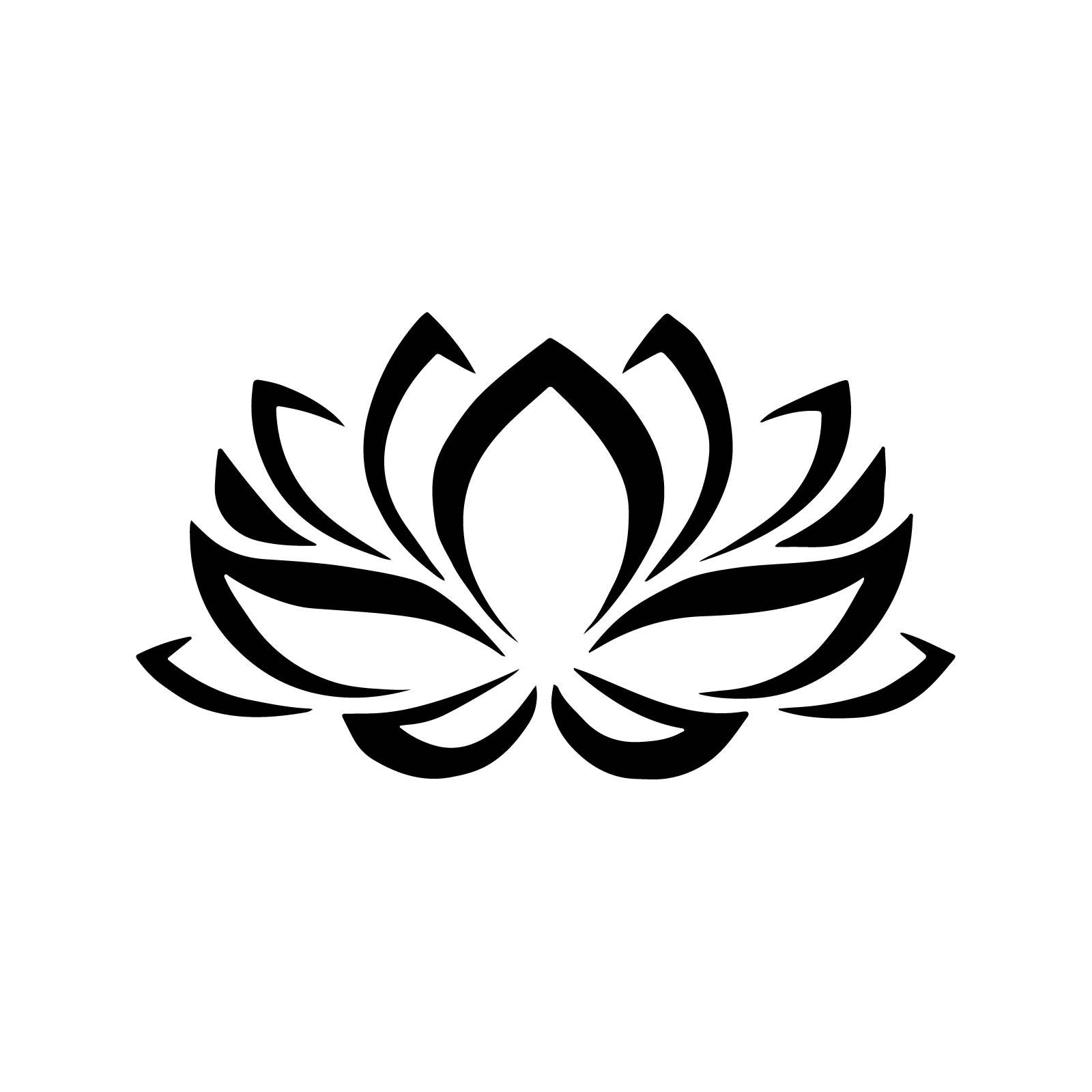 Stencil Floral Lotus Flower Stencil Decoration 5 Sizes Svg Pdf Png