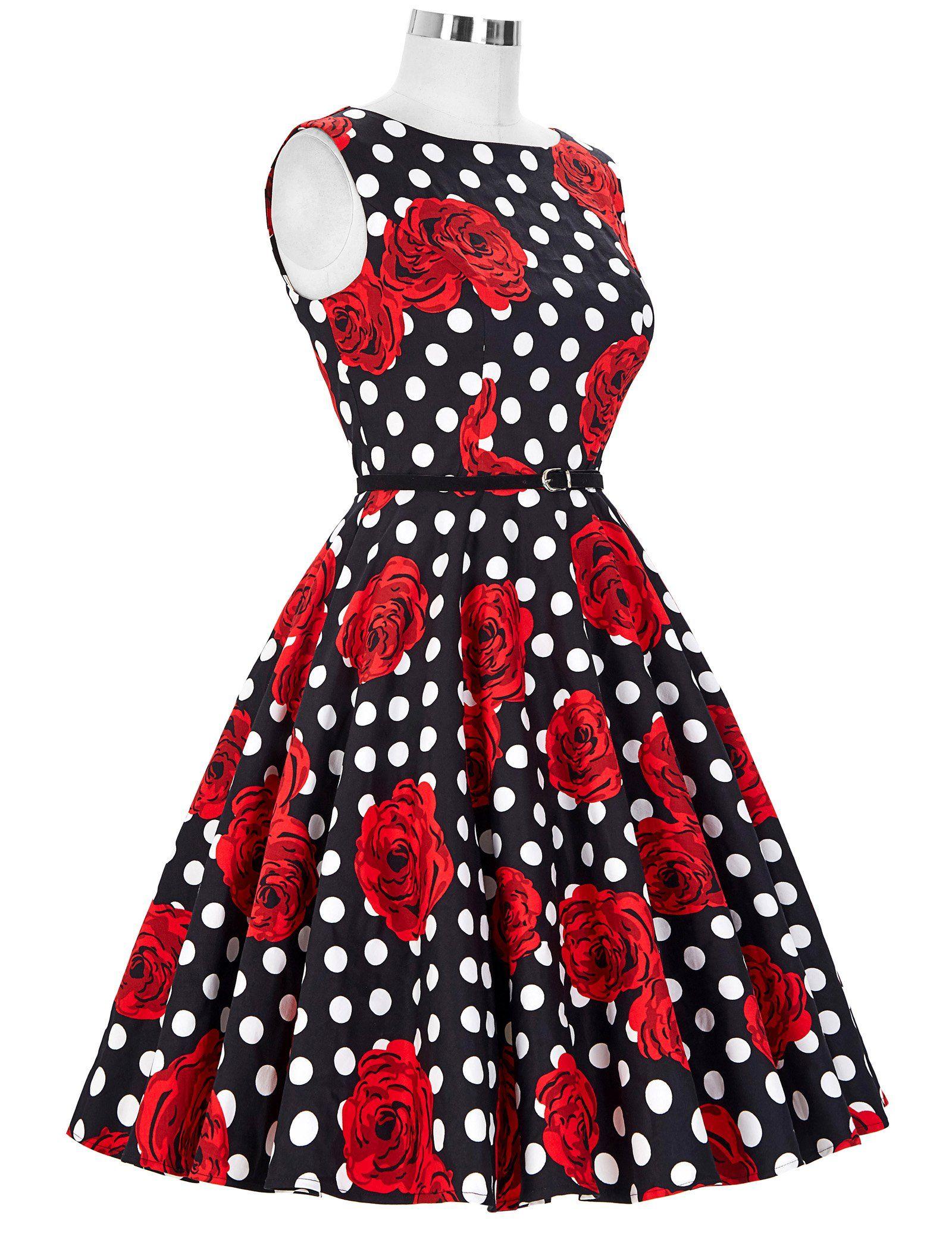 GRACE KARIN® 50s Retro Vintage Rockabilly Kleid Partykleider ...