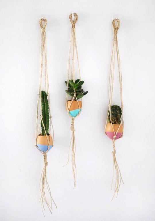 DIY Mini Hanging Macrame Garden — Crafttuts+
