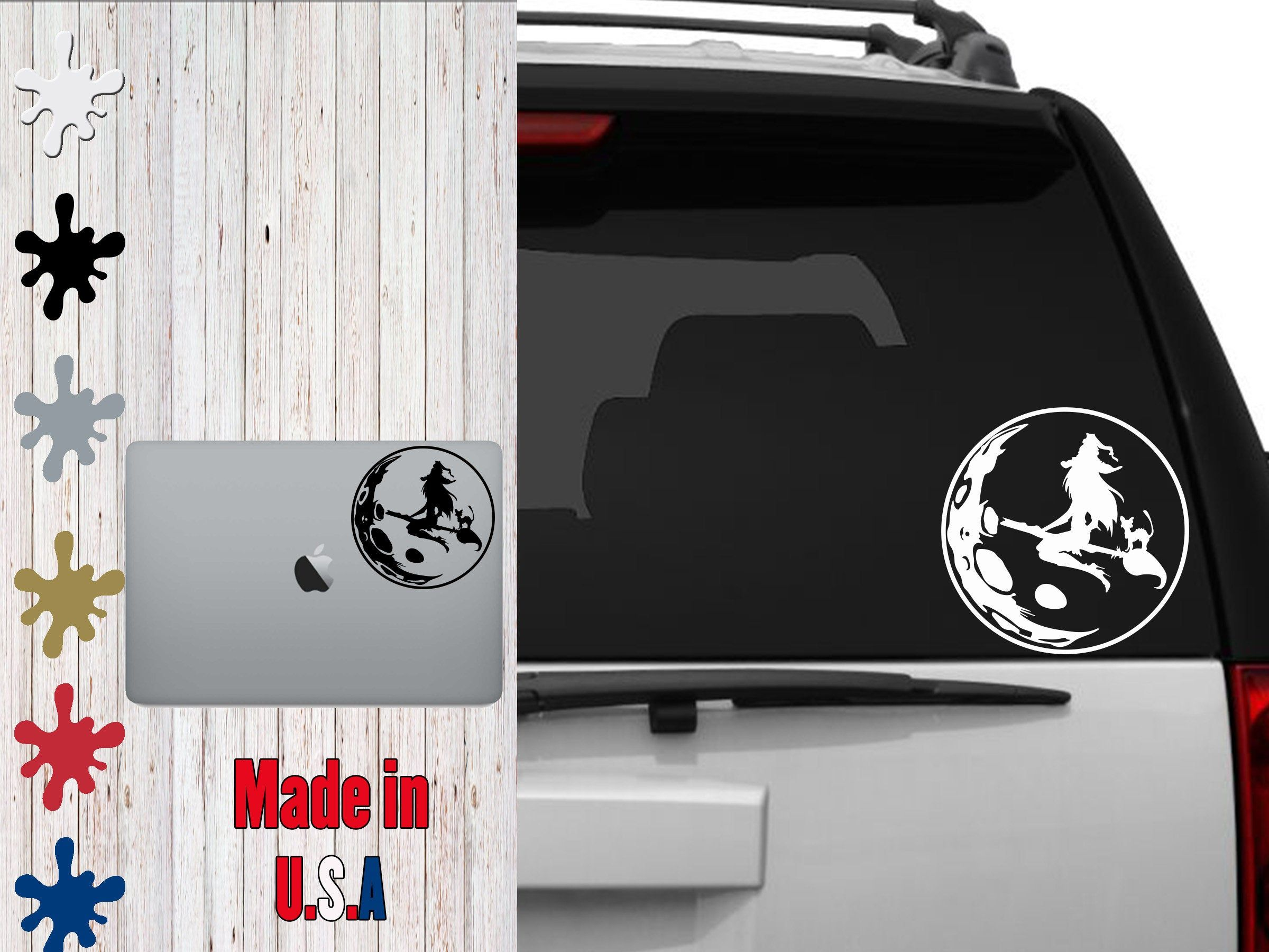 Moon Which Decal Choose Your Size Car Decal Laptop Decal By Veiledtrove On Etsy Horror Scary Fright Trickortre Phone Decals Laptop Decal Tumbler Decal [ jpg ]