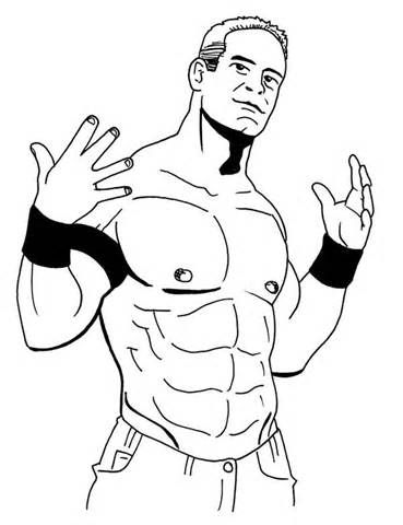 John Cena Coloring Pages Sketch Template Coloring Pages Drawings People Coloring Pages