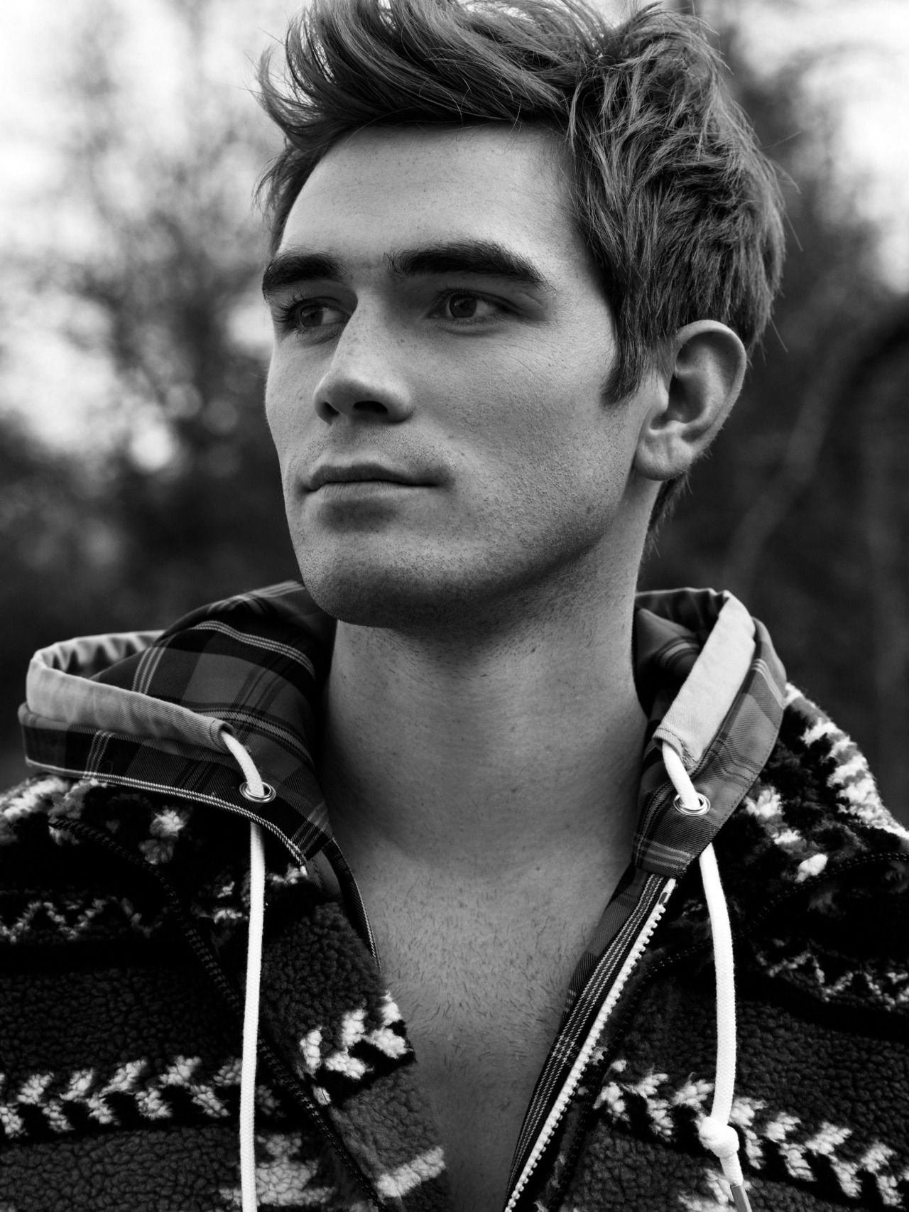 Kj Apa Photographed By Justin Campbell For Flaunt Magazine Kj Wears Msgm Jacket And Sweater Archie Andrews Riverdale Riverdale Cast Riverdale Archie