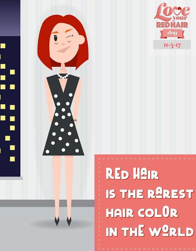 November 5th Is National Love Your Red Hair Day Loveyourredhairday Red Hair Day Red Hair Rarest Hair Color