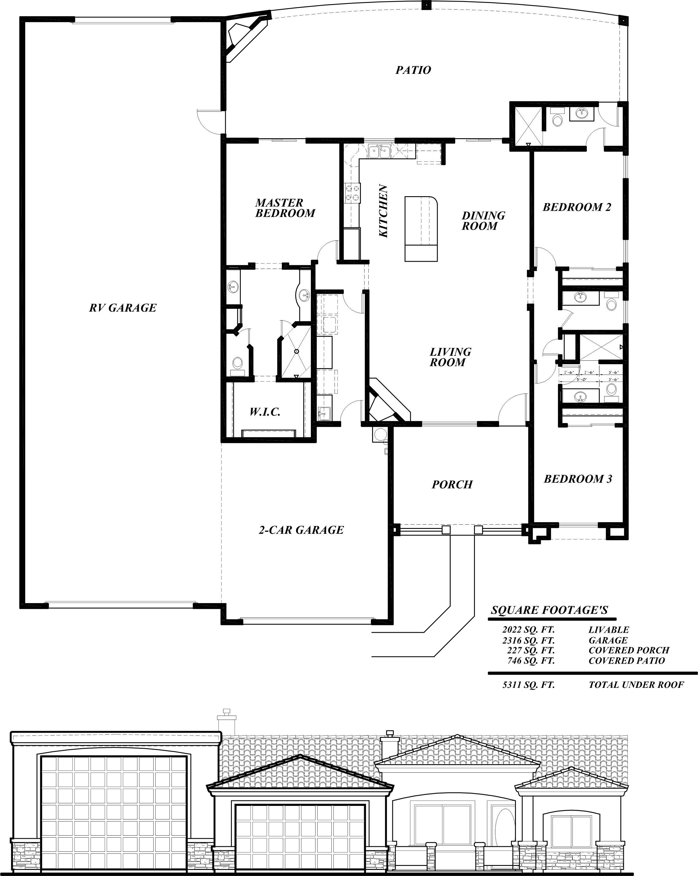 Sunset Homes Of Arizona Experienced Builder Garage Plans Garage Floor Plans Pole Barn House Plans