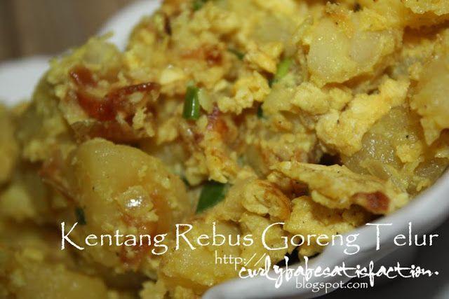 Curlybabe S Satisfaction Kentang Rebus Goreng Telur Resep Masakan Resep Makanan Makanan