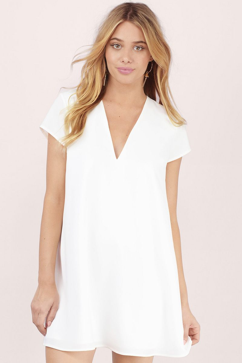 Swoop In Shift Dress In Ivory Shift Dress Womens Trendy Dresses Summer Fashion Outfits [ 1200 x 800 Pixel ]