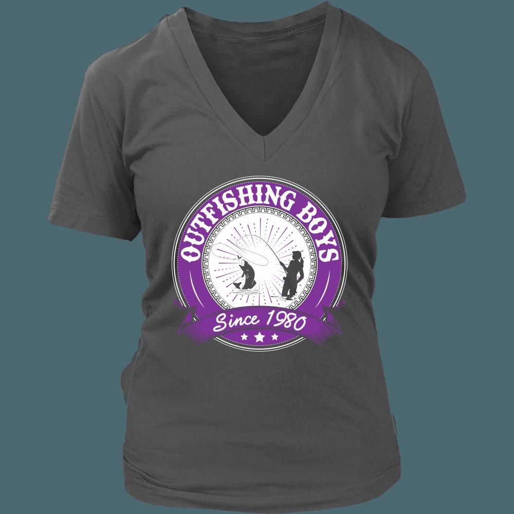 Outfishing Boys Since 1980 Women's Fishing T-Shirt