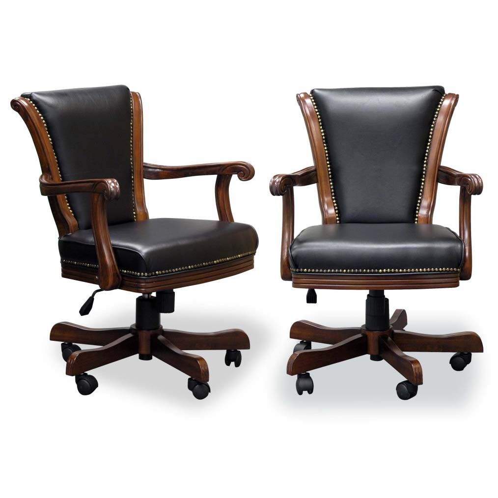 Two Executive Game Chairs Chestnut