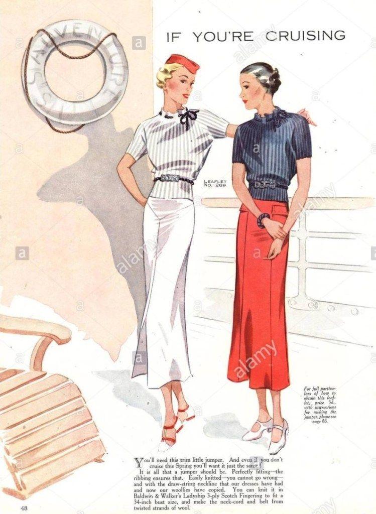 Photo of 1930s Fashion-Cruise Wear Advertising Illustration
