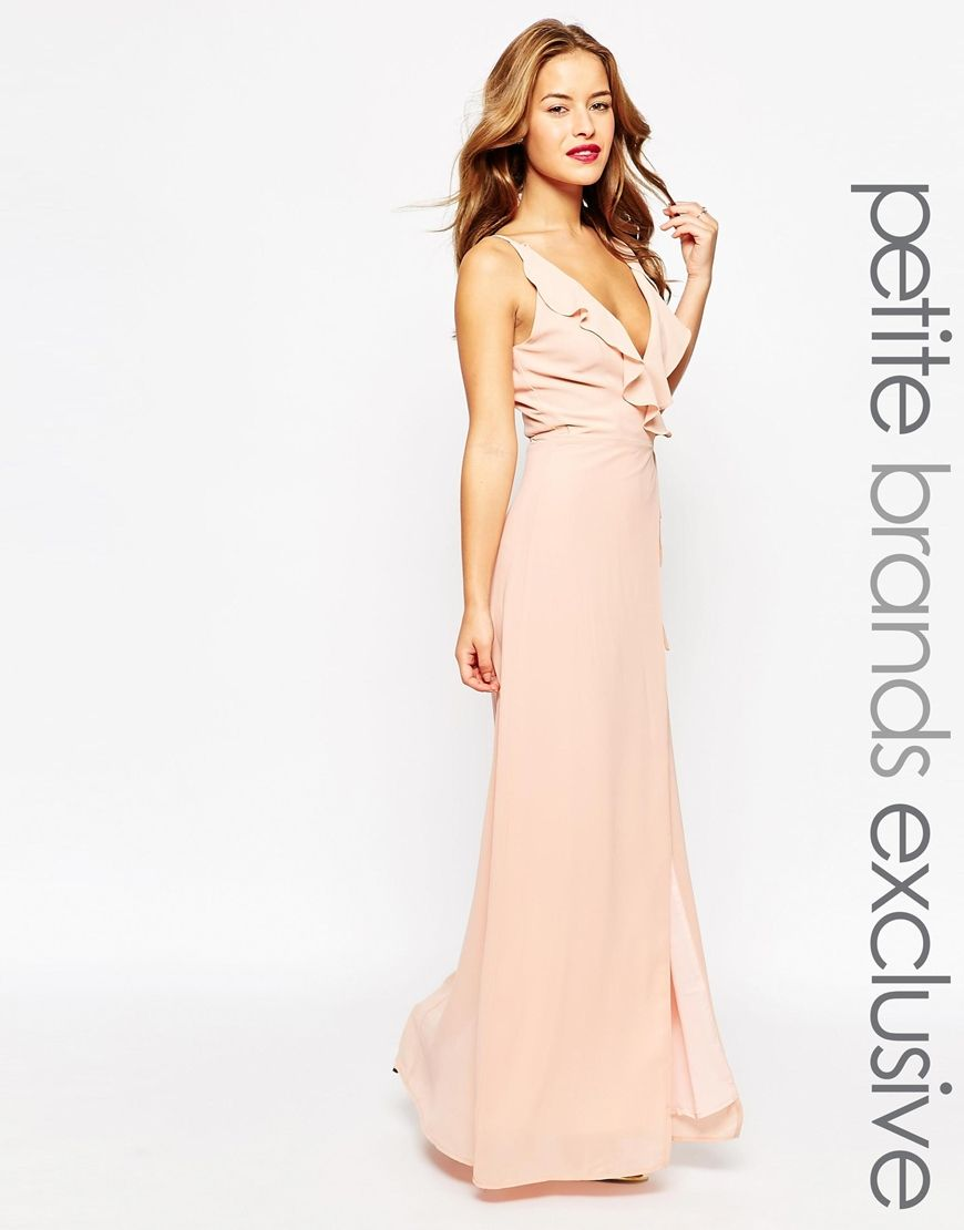 Jarlo Petite Soft Plunge Neck Wrap Strappy Maxi Dress | Party ...