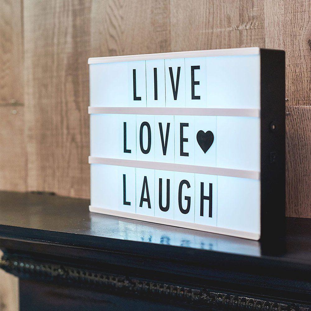 Boite Lumineuse Idee Message light box fleux | lichtbak, interieur, leuke quotes