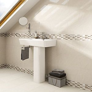 Wickes delaware brick mosaic tile 305x305mm bathroom pinterest bricks mosaic tiles and Wickes bathroom design ideas