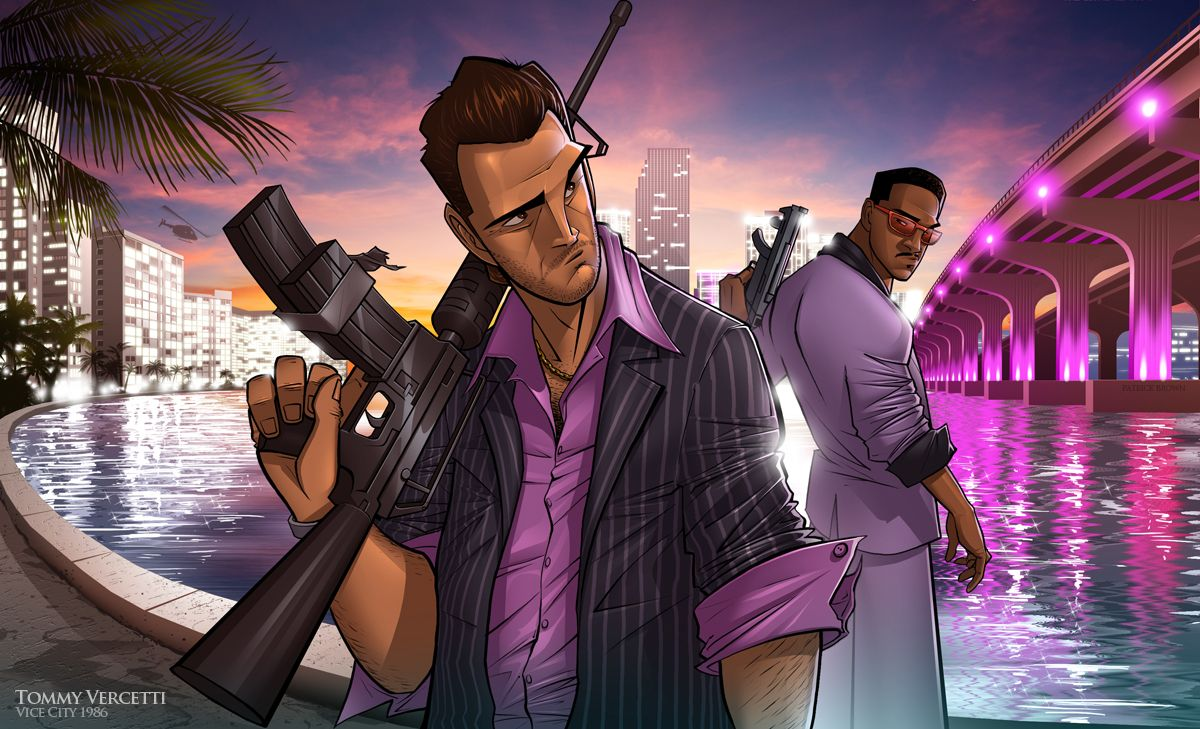 Vice City Vibes By Patrickbrown On Deviantart Grand Theft Auto Grand Theft Auto Series Grand Theft Auto Artwork