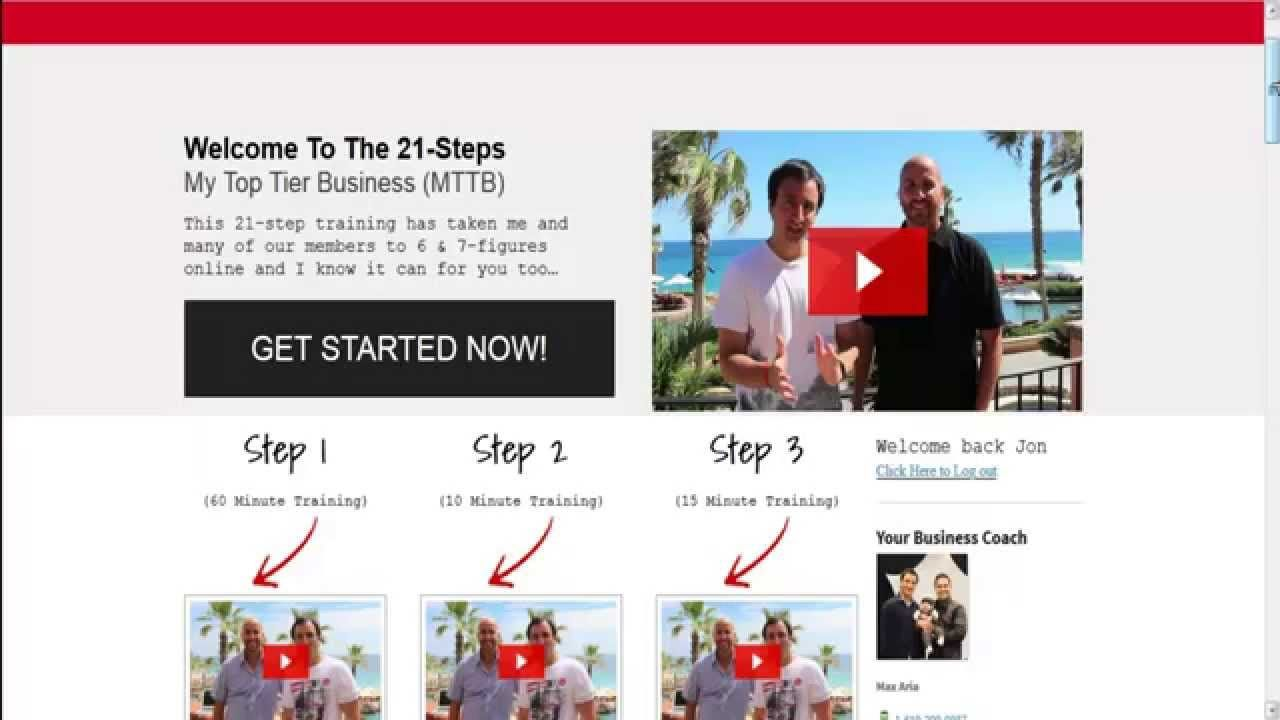 Mttb  Step System My Top Tier Business Review And Massive Bonus
