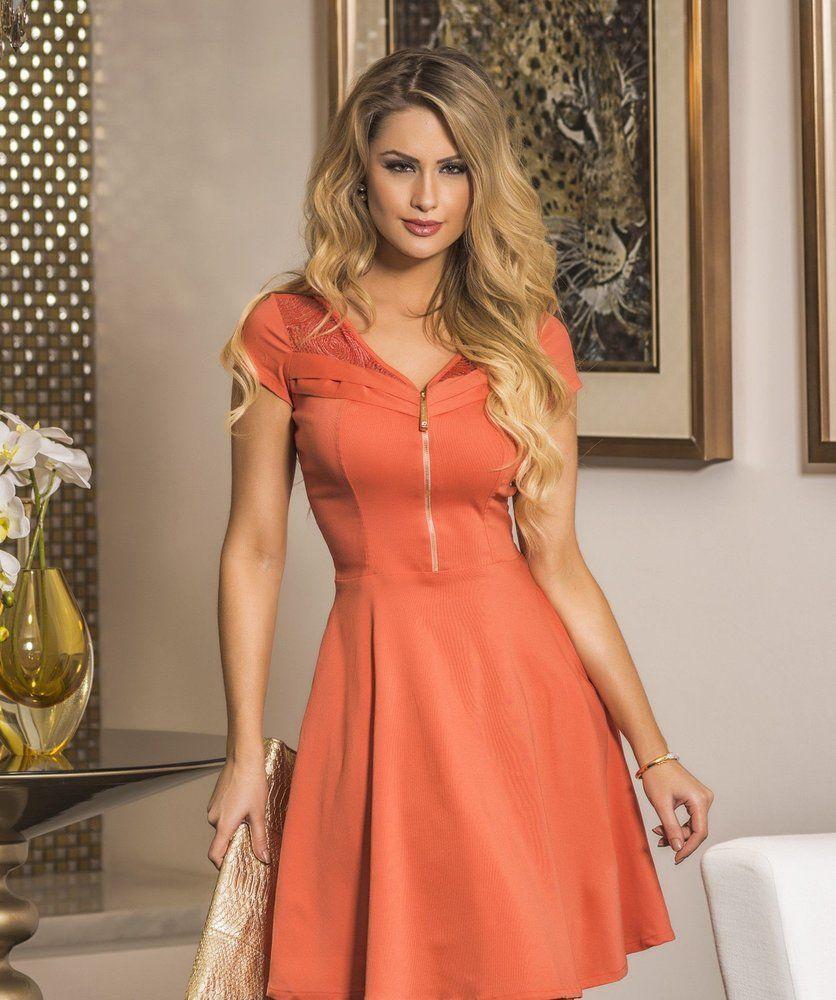 6c0779aa5c Vestido Marina Mulata Café - Bela Evangélica