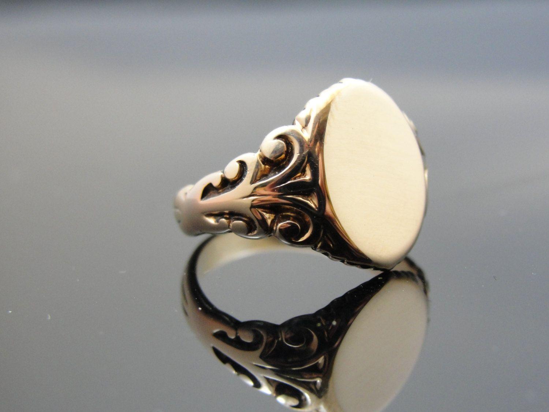 Antique victorian 14k rose gold ring for man or