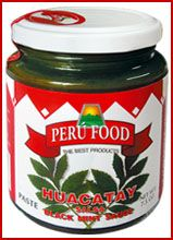 Peru Food Huacatay Salsa (Black Mint Paste) -- essential for authentic pollo a la brasa from Peru