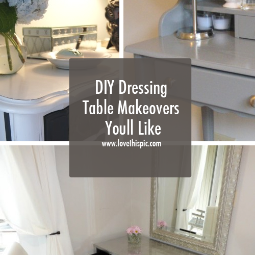 Diy dressing table makeovers youll like diy dressing tables diy dressing table makeovers youll like style diy do it yourself makeover dressing table cool makeover solutioingenieria Images