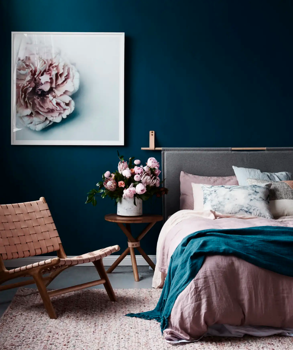 Beyond the Pale: The Grown Up Way to Do Blue & Pink  Teal bedroom
