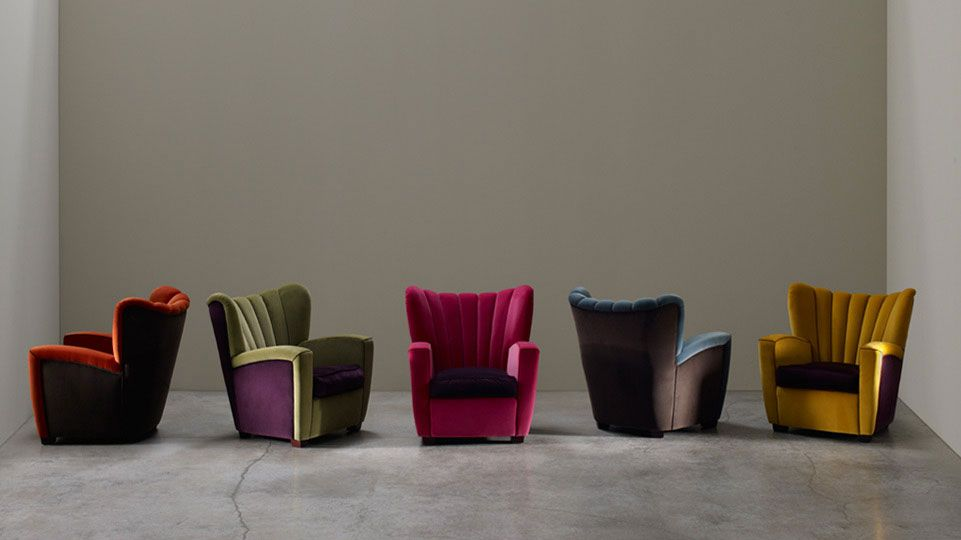beautiful vivid colorful armchairs Poltrona Zarina Design