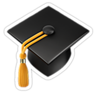Graduation Cap Emoji Sticker By Nerdychick In 2021 Graduation Cap Graduation Stickers Graduation Frame