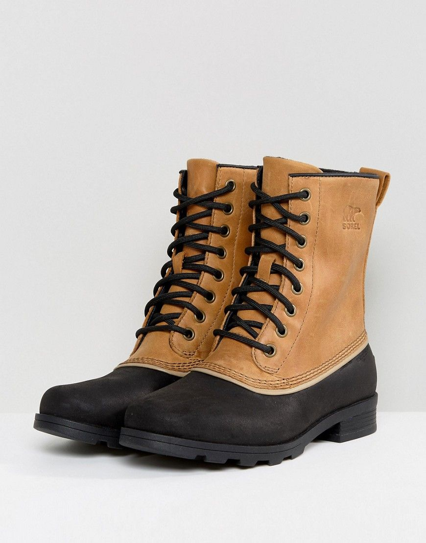 Elk Beige Fix BootsStitch Waterproof Leather Sorel Emelie 1964 XZwOPkiuT
