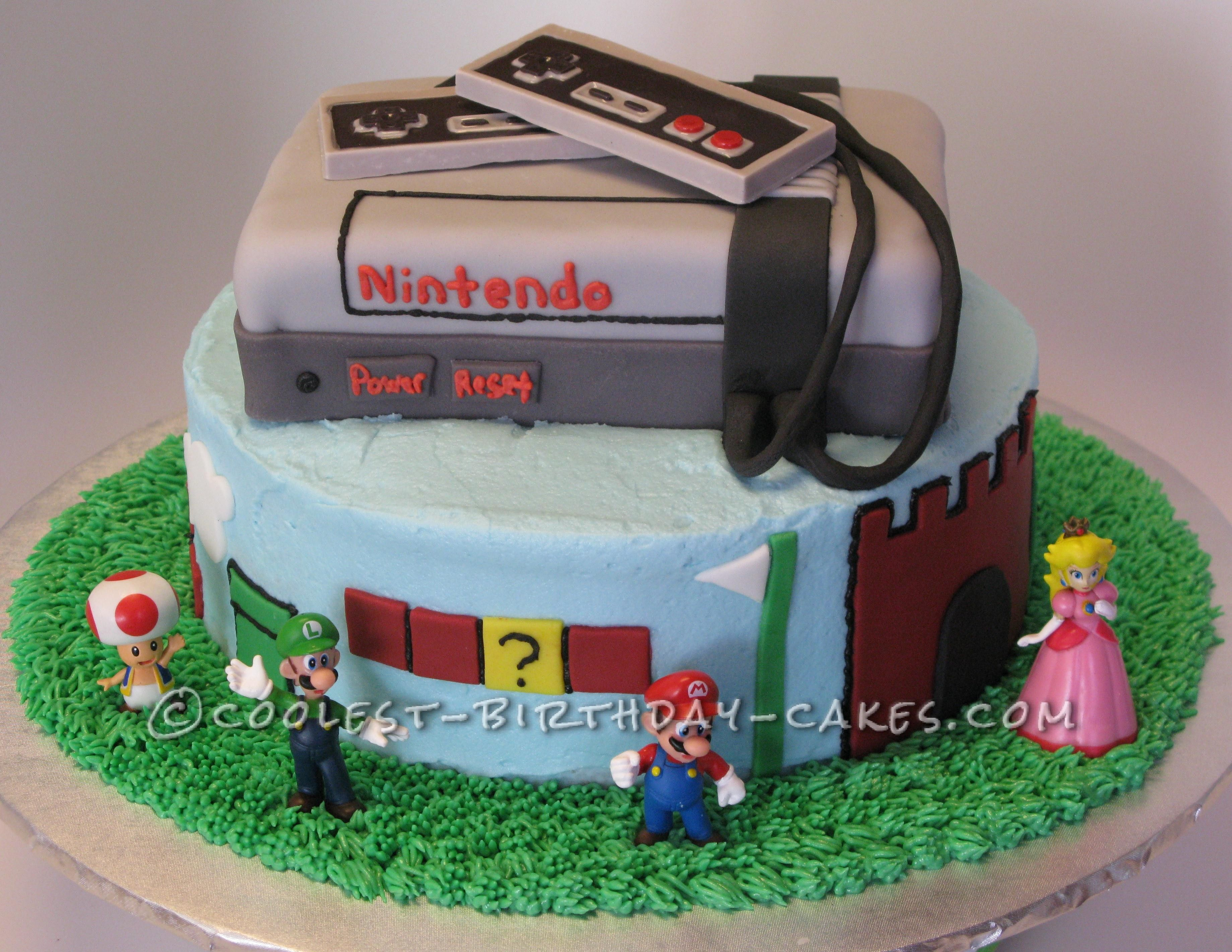 Terrific Coolest Ninetendos Super Mario Brothers Birthday Cake Cool Funny Birthday Cards Online Alyptdamsfinfo