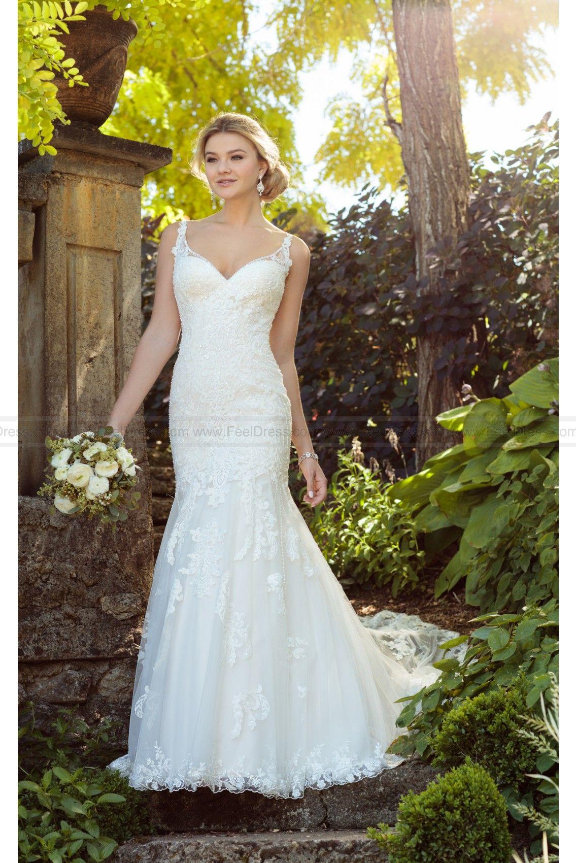 Essense of Australia Vintage Boho Wedding Dress With Pearl